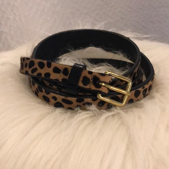 J.Crew Skinny Leopard Belt